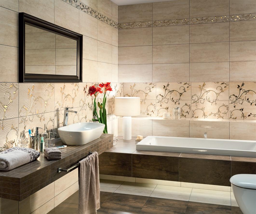 Испанская плитка для ванной в интерьере фото