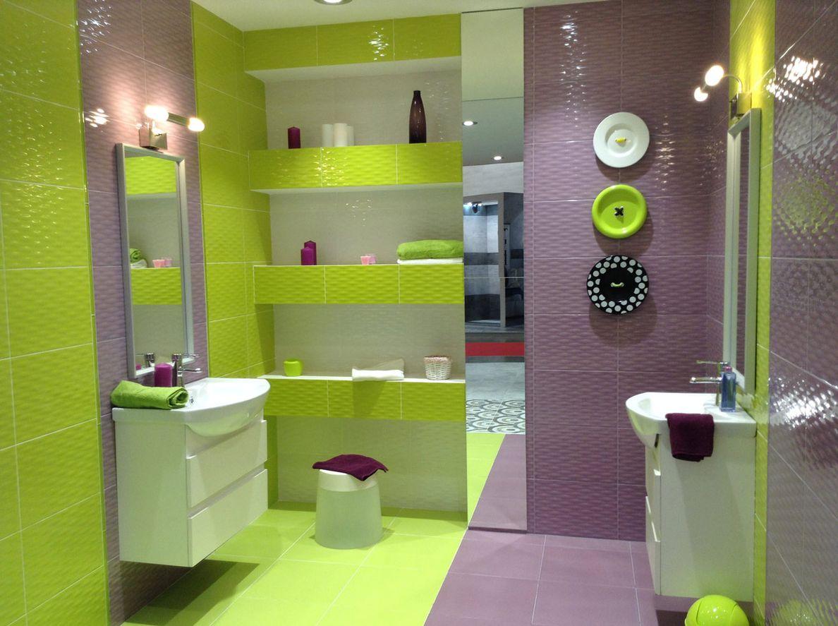 Дизайн плитки в ванной комнате примавера