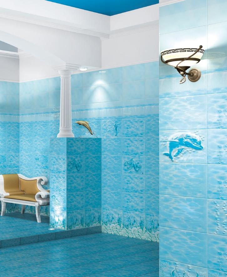 Ceramic tile bathtub