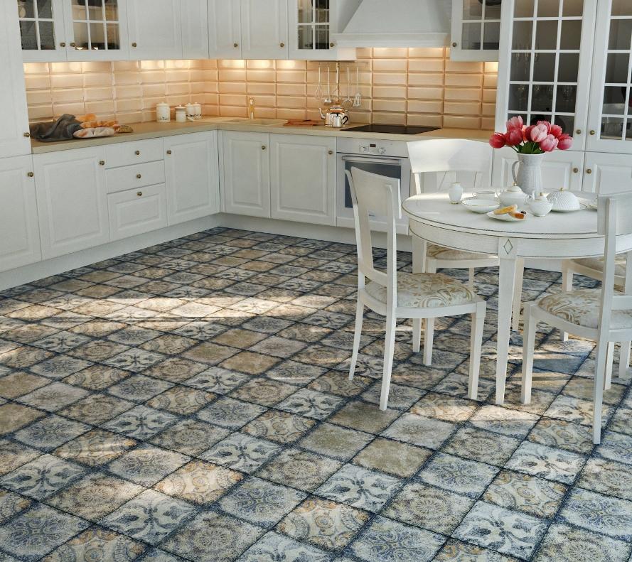 Ceramic tile on steps