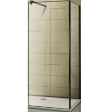 Душевая кабина BAS Good Door Walk-in SP+SP+P 80x80, черный